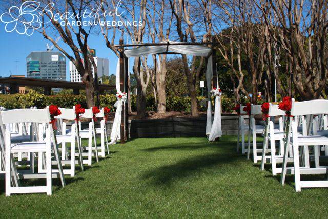 Beautiful Garden Wedding at Palm Tree Court, Roma St Parklands