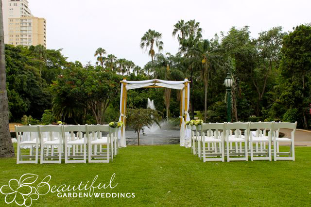 Beautiful Garden Wedding Brisbane